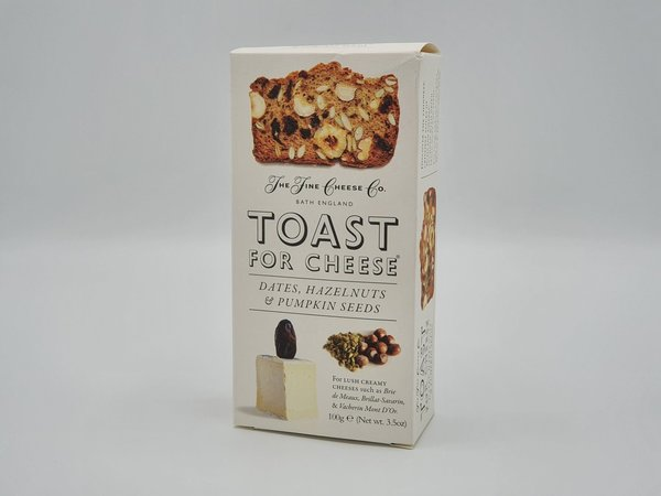 Toast for Cheese Dates, Hazelnuts & Pupmkin Seeds
